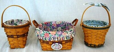 Lot of 3 Longaberger May Series Baskets: Petunia, Lilac & Daisy