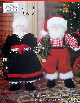 "Vogue Linda Carr Christmas Doll Santa Mrs. Claus 26"" Pattern 8434 face transfers"