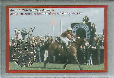 Red Rum Vintage Grand National Hunt Winner Horse Racing Retro Coin Gift Set 1977