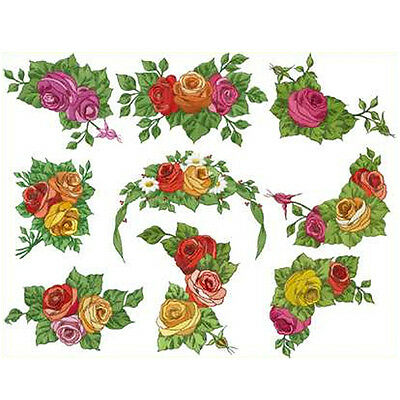 ABC Designs 9 Romantic Roses machine embroidery designs SET 5x7-inch hoop