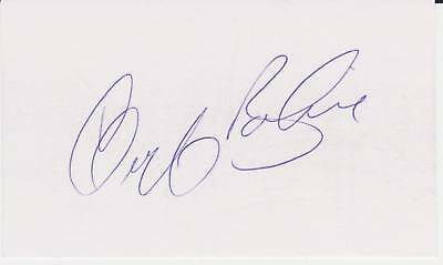 Signed Geoff Bodine 3X5 Index Card Autographed Nascar