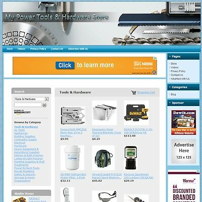 POWER TOOLS & HARDWARE STORE - Highly Profitable Home-based Affiliate Website !!