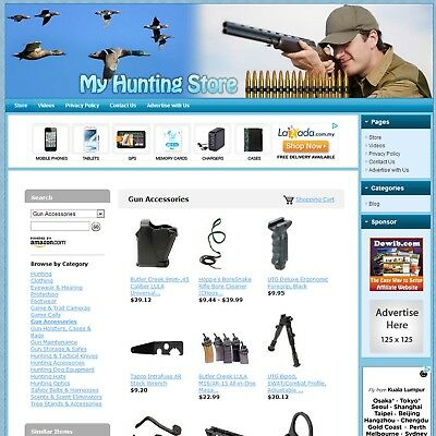 HUNTING STORE - Professionally Designed & Fully Automated Affiliate Website SALE