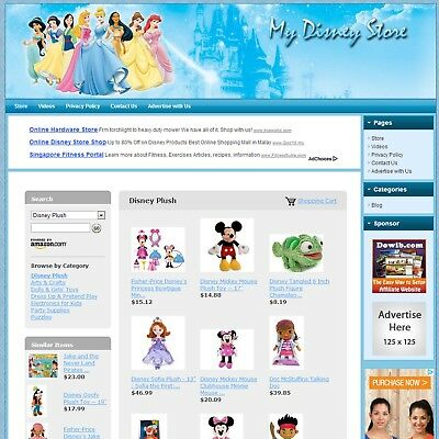 DISNEY TOYS STORE -Complete Affiliate Website, Highly Profitable Online Business