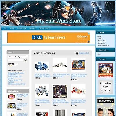 STAR WARS TOYS & GAMES STORE - Make Money with e-Commerce Dropship Website, HOT!