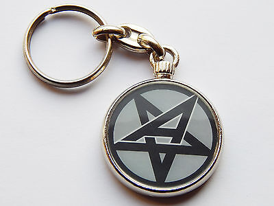 ANTHRAX Classic Rock Metal Band Quality Chrome Keyring Picture on Both Sides