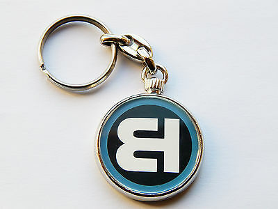 BASS HUNTER Dance Music Quality Chrome Keyring Picture on Both Sides!