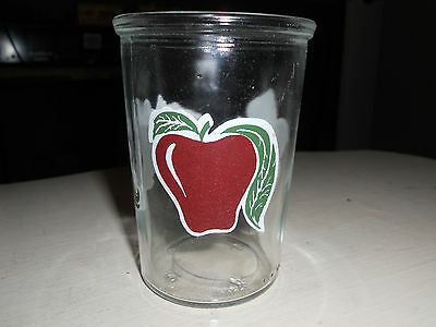 ** Vintage Bama Jelly Jar Apple / Grapes Collectible Glass ** Great condition
