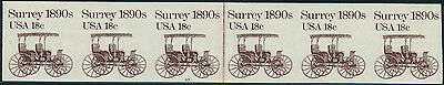 """#1907a 18¢ """"SURREY"""" IMPERF STRIP OF 6 WITH PLATE #10 WL1895"""