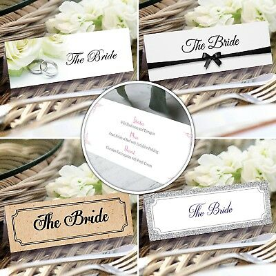 Personalised Wedding Place Cards * Name Cards * Place Settings * Placecards