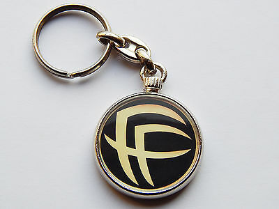 FEAR FACTORY Heavy Metal Band Quality Chrome Keyring Picture on Both Sides!