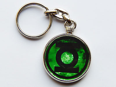THE GREEN LANTERN Movie Super Hero Quality Chrome Keyring Picture Both Sides!