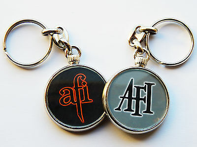 AFI Punk Rock Band Quality Chrome Keyring Pictures on Both Sides!
