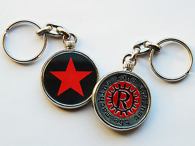 RAGE AGAINST THE MACHINE Rap Rock Band Quality Chrome Keyring Picture Both Sides