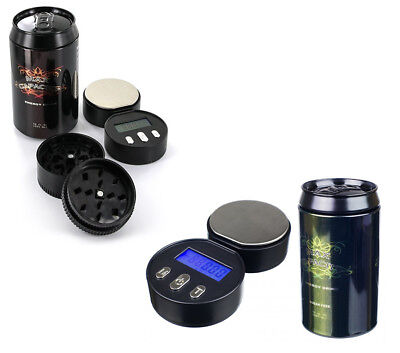 CAN SCALE HERB GRINDER DIGITAL SCALES 0.01G X 100G STASH ENERGY DRINK 2 In 1