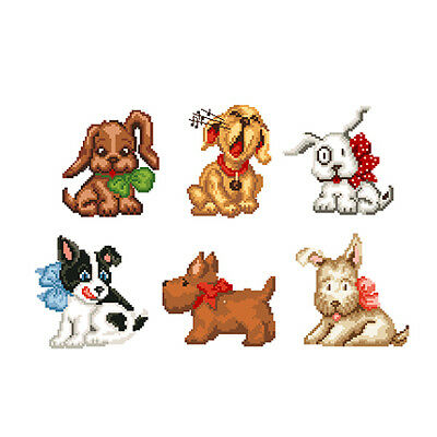 "ABC Designs Doggies Machine Embroidery Designs Set in Cross Stitch 4""x4"" Hoop"