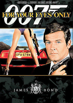 For Your Eyes Only (DVD, 2007) James Bond, Roger Moore, Carole Bouquet    NEW