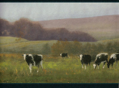 1 Roll Wallpaper Border Country Rolling Hills Cows Home Decor 5 yard Vinyl