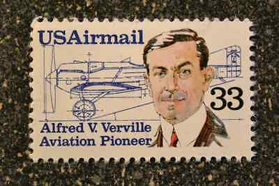 1985US    #C113   33c Air Mail  -  Alfred Verville Aviation Pioneer  -   Mint NH