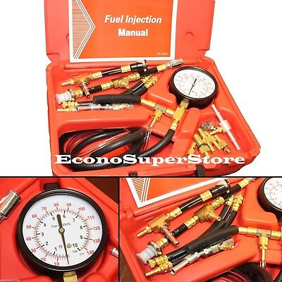 TU-448 Fuel Injection System Pressure Tester Dianogstic Kit For GM FORD CHRYSLER