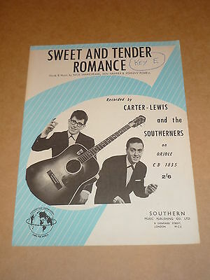 "Carter-Lewis & Southerners ""Sweet And Tender Romance"" sheet music"