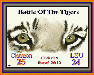 BATTLE OF THE TIGERS CLEMSON LSU CHICK-FIL-A BOWL GAME 2012 CLEMSON WINNER
