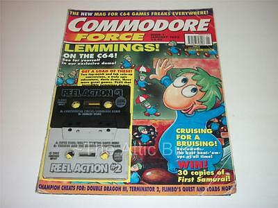 Commodore Force ~ Issue 1 ~ January 1993 ~ with both Cover Tapes (Lot 2)