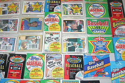 Lot Of 1000 Old Unopened Baseball Cards In Packs Only Topps Cards!!