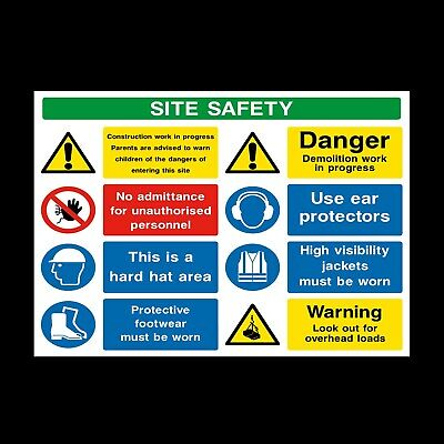 Site Safety Building Signs & Stickers Large Sizes! Thick Materials! (Css40)