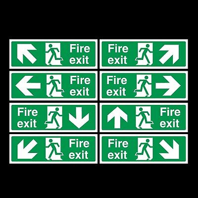 Fire Exit Signs/stickers All Materials!  All Sizes!  Drilled Option! *free P+P*