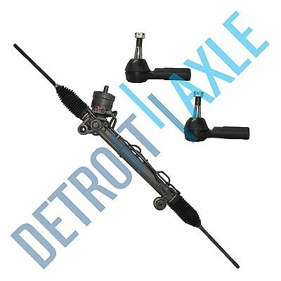 Complete Power Steering Rack and Pinion +2 Outer Tie Rods for Buick Pontiac