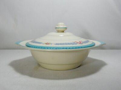 Crown Ducal Cambridge Covered Round Vegetable Bowl (Crazing)