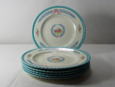 Crown Ducal Cambridge Set of 6 Bread and Butter Plates (Degrees of Crazing)