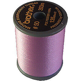 Brother satin finish embroidery thread. 300m spool LIGHT LILAC 810