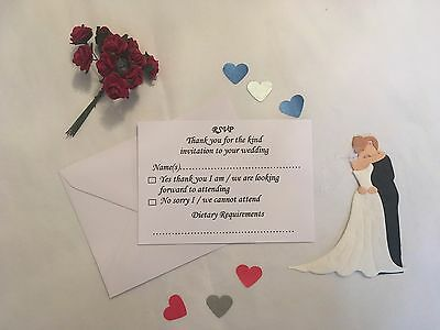 Wedding / Reception RSVP Cards and Envelopes