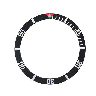 Bezel Insert For Rolex Submariner 6202,6204 Red Triangle Pearl