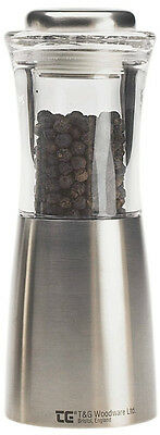 "T/&G Tip Top Steel /& Glass Crushgrind Pepper Mill 25yr Guarantee 5/"" FREE DEL11094"