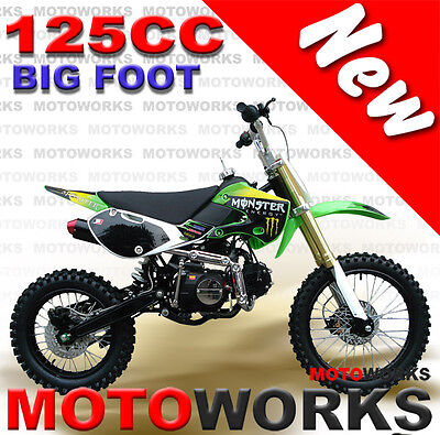 MOTOWORKS 125cc BIGFOOT DIRT TRAIL PIT MOTOR 2 WHEELS PRO BIKE Kick start green