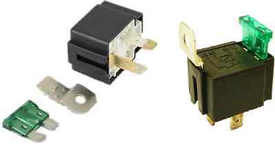 2x 4 Pin FUSED RELAY SWITCH NORMALLY OPEN 12V 30A 4 PIN CAR VAN  ROBINSON ED541