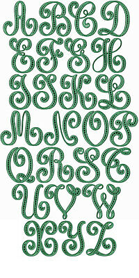 "ABC Designs Lafayette Cutwork Font machine embroidery designs 5""x7"" hoop"