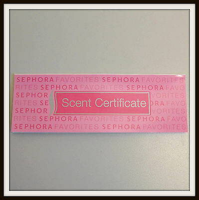 Sephora SCENT CERTIFICATE Voucher Gift Coupon Choose from 10 Fragrance Authentic