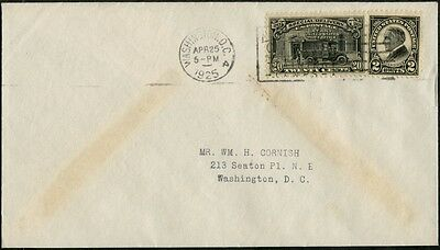 #e14 Cornish First Day Cover April 25,1925 With #610 Cv $100.00 Bp8396