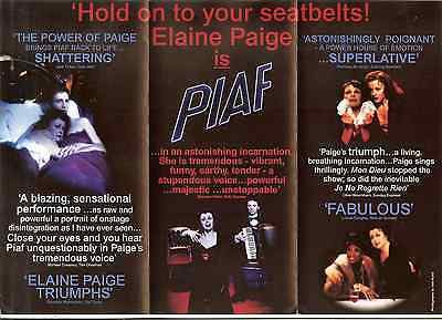 Elaine Paige Brochure Piccadilly Theatre London Uk Excellent Condition Free Ship