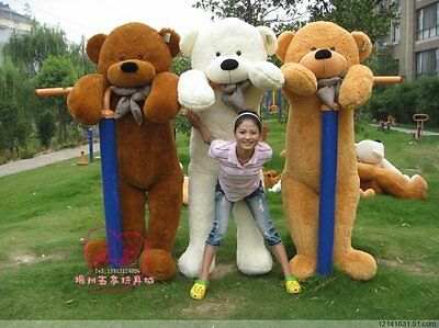 """NEW GIANT 78"""" TEDDY BEAR PLUSH HUGE SOFT 100% COTTON TOY 200CM*light brown color"""