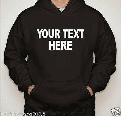 Personalized Custom Hoodie Sweatshirt New Create your own text design all sizes