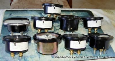 New Old Stock 9 Misc Panel Meters Meter Free Shipping!