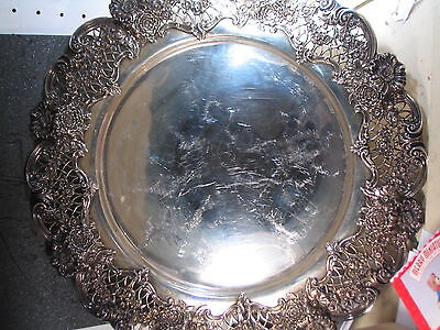 """Vintage Bailey Banks and Biddle 15 1/2""""  FLORAL TRAY #1057"""