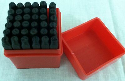 """36pc Number and Letter Punch Set 1/8"""" Hardened Steel Metal Die Jewelers w/Case"""