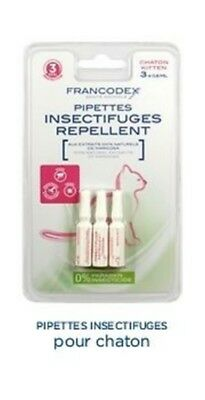 Pipettes Insectifuges X3 Pour Chatons Francodex Protection 3 Mois