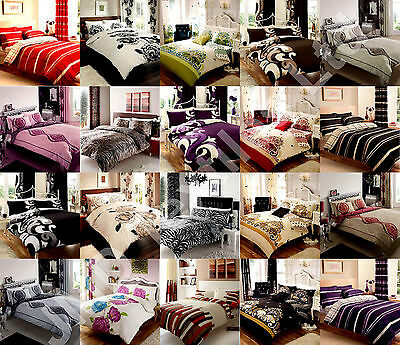 Duvet Cover with Pillow Case Quilt Cover Bedroom Bedding Set Single Double King